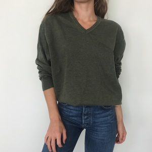 Slouchy cotton V-neck